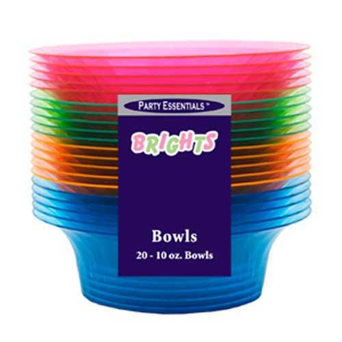 Tazon De Plástico Para Fiestas Neón Brillante 295ml - Variedad de Colores