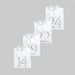 Tarjetas para Mesas Numeradas - Tarjetas para Numerar de 13 al 24