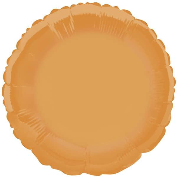 Globo Foil Redondo Naranja 45 cm