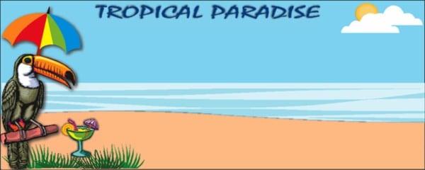 Banners personalizados hawaianos