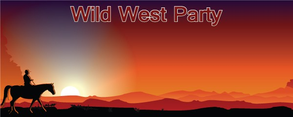 Banners personalizados de Wild West