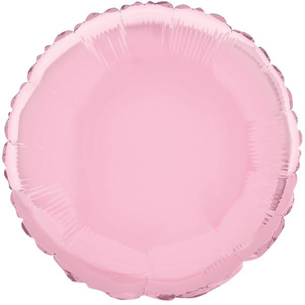 Globo Foil Redondo Rosa de 45 cm