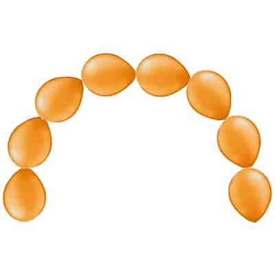 Globos de Cadena Naranja Llanura - 30 cm - Pack de 15