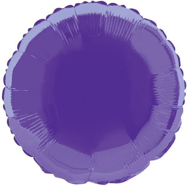Globo Foil Redondo Morado de 45 cm