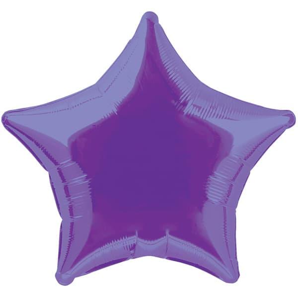 Globo Foil Estrella Morado de 48 cm