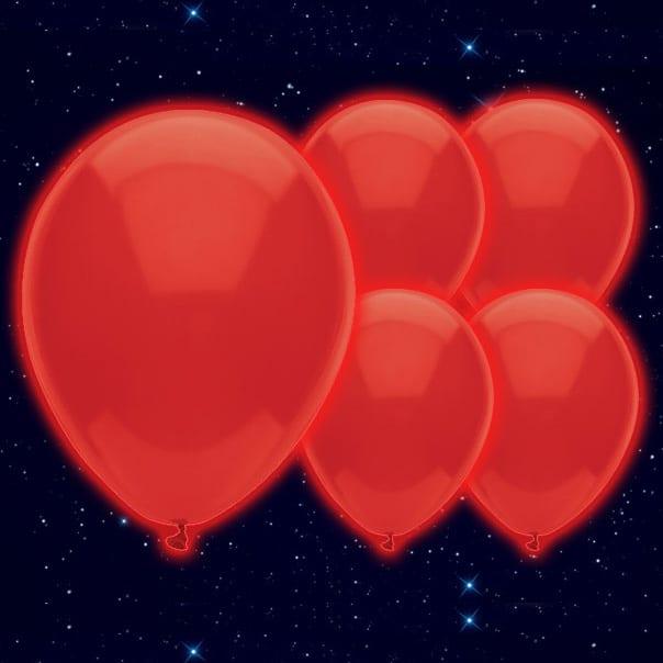 Globos Luminosos Illoom Rojo 23cm - Paquete de 5