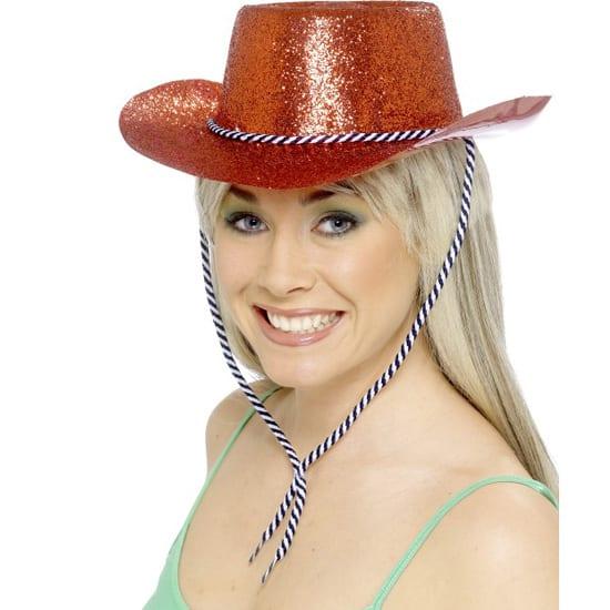 Sombrero del Vaquero - Brillos Rojos