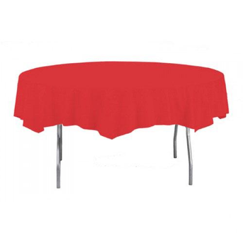 Mantel De Plástico Redondo Rojo 213Cm