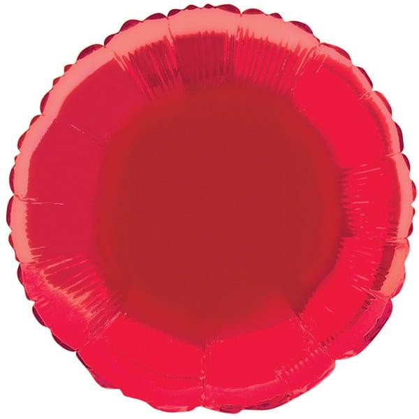 Globo Foil Redondo Rojo de 45 cm