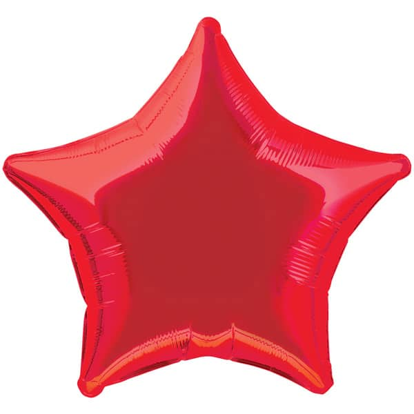 Globo Foil Estrella Roja de 48 cm