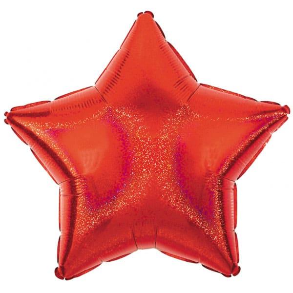 Globo Foil Estrella Roja Deslumbrante