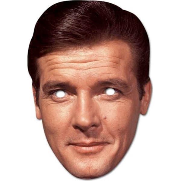 Roger Moore Persona Famosa Fiesta Máscara - Unidad