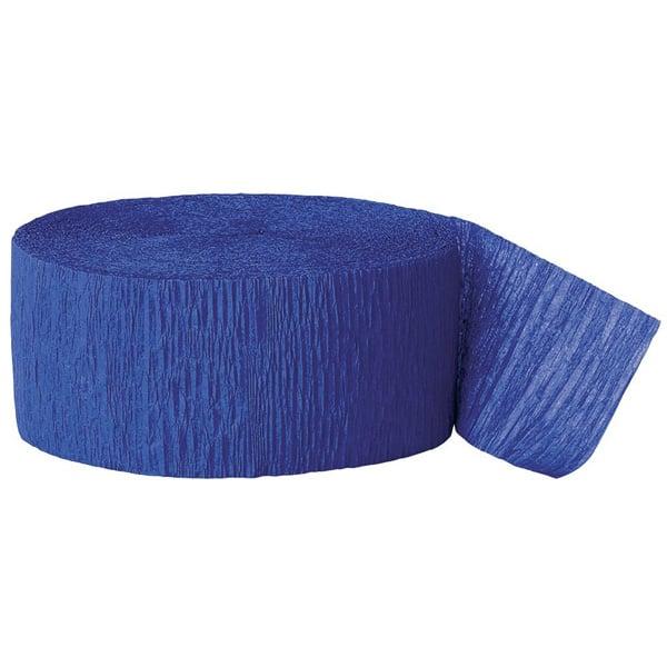 Serpentina Azul Real De Papel Crepe