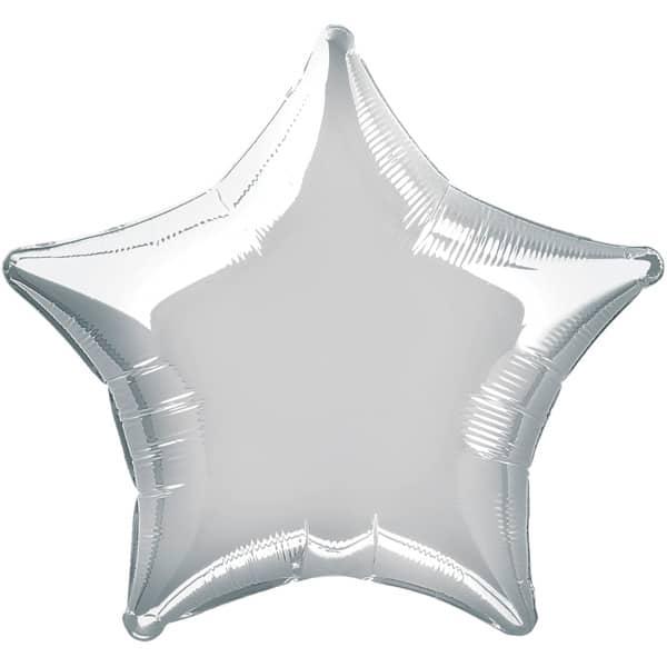 Globo Foil Estrella Plateada de 48 cm