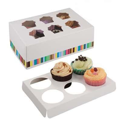 Seis Caja de Cupcake