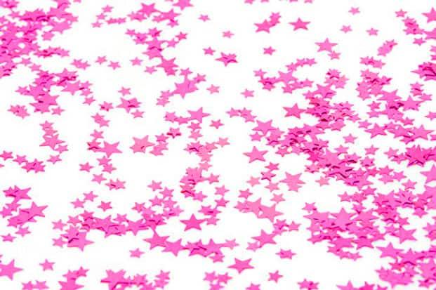 Cerise Estrellas Pequeñas Confeti de Mesa