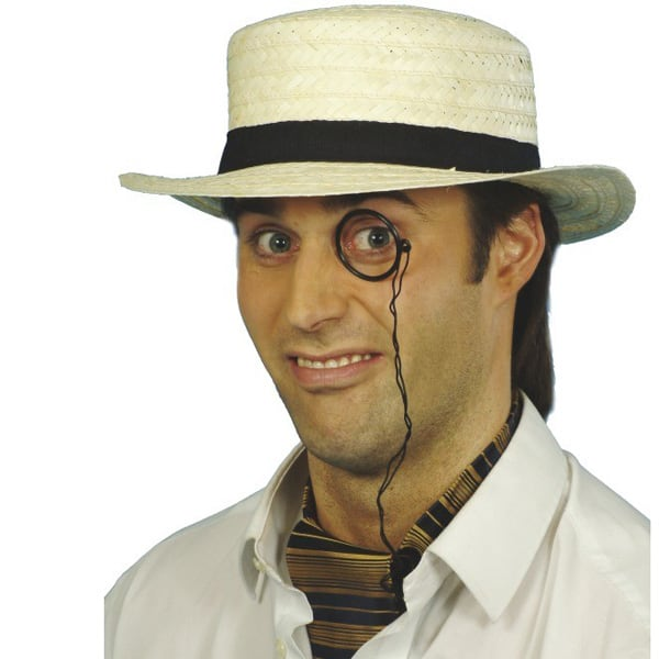 Sombrero de Paja con Negro Banda