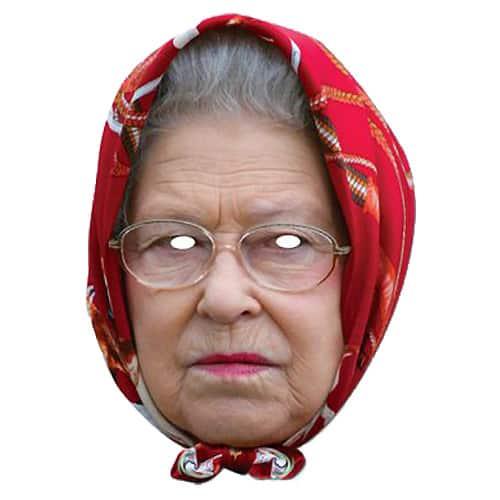 Máscara Facial de Cartón con Pañuelo Reina