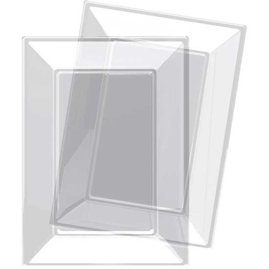 Bandeja Transparente Rectangular de Plástico 23 x 33 cm - Pack de 3