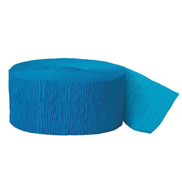 Serpentina Turquoise de Papel Crepe 24,7mtr Longitud