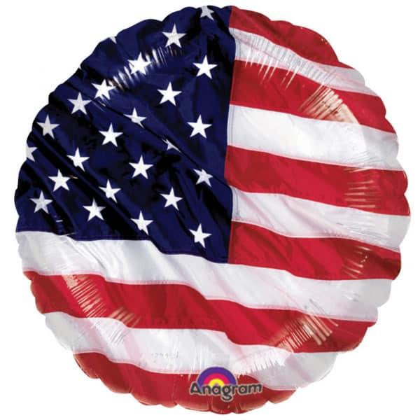EE.UU. Colores de Vuelo Globo de Foil Redondo 46 cm