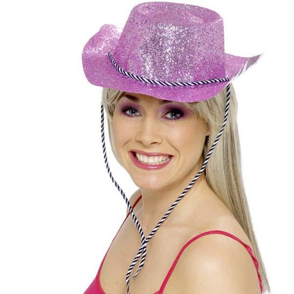 Úselo Rosa - Rosa Brillo Sombrero de Vaquero