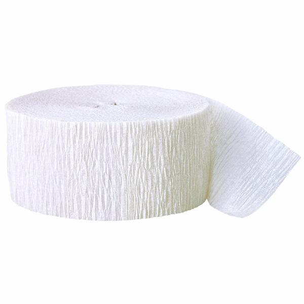 Serpentina Blanco De Papel Crepe