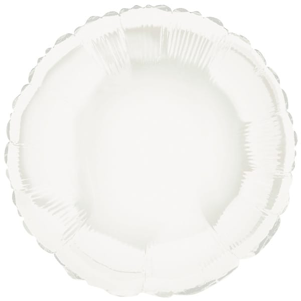 Globo Foil Redondo Blanco de 45 cm