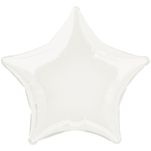 Globo Foil Estrella Blanca de 48 cm