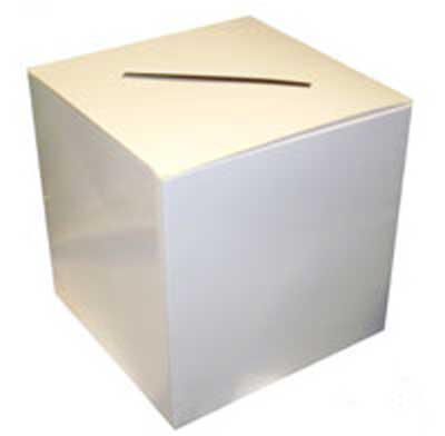 Cajas de Tarjetas de Boda Blancas 30cms x 30cms x 30cms