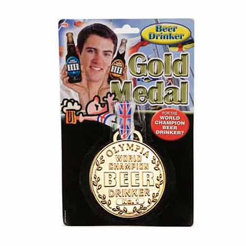 Medalla de Oro al Campeón Mundial Bebedor de Cerveza - Una Unidad
