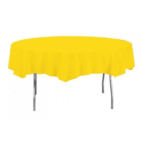 Mantel De Plástico Redondo Amarillo 213Cm