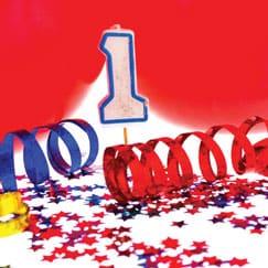 Suministros de primera fiesta de cumpleaños