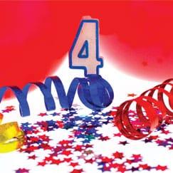 Suministros de la cuarta fiesta de cumpleaños