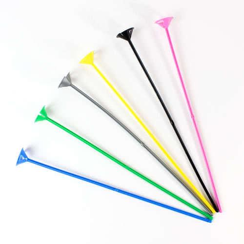 Palos De Globos De Colores Variados Y Tazas De 38 Cm / 15 Pulgadas - Paquete De 6