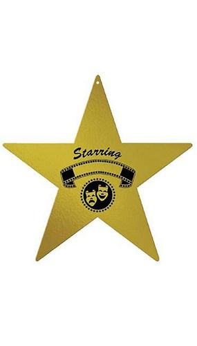 Figura de Estrella de Foil en la Noche de Premios 30cm - Unidad