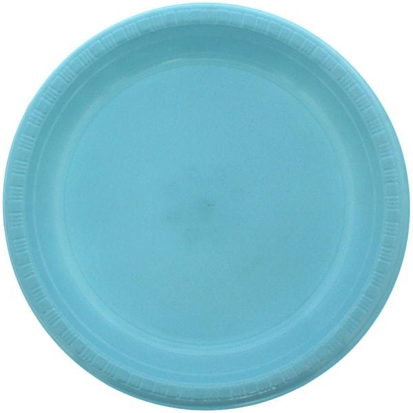 Platos De Plástico Redondos Azul Celeste 23Cm - Paquete De 20