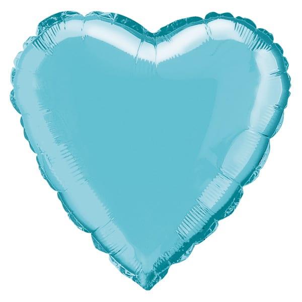 Globo Foil Corazón Azul Bebé 45 cm