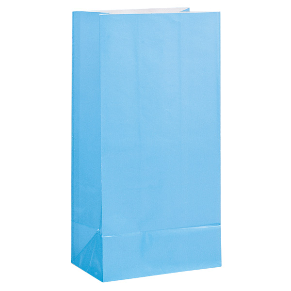 Bolsa de Papel Para Fiesta Azul bebé - Paquete de 12