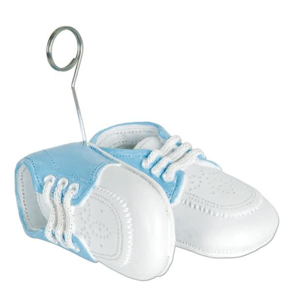 Zapatillas azules de bebé sostén de globo - Sostén de fotos