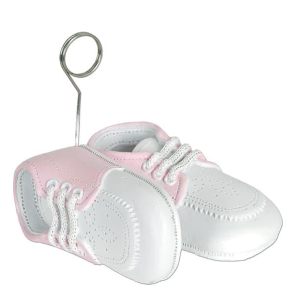 Zapatillas rosa de bebé sostén de globo - Sostén de fotos