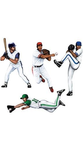 Figuras de Baseball - Paquete de 4