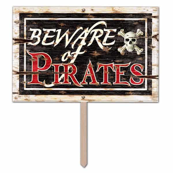 Señal de Cuidado con el Pirata