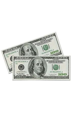 Figura de billetes grandes