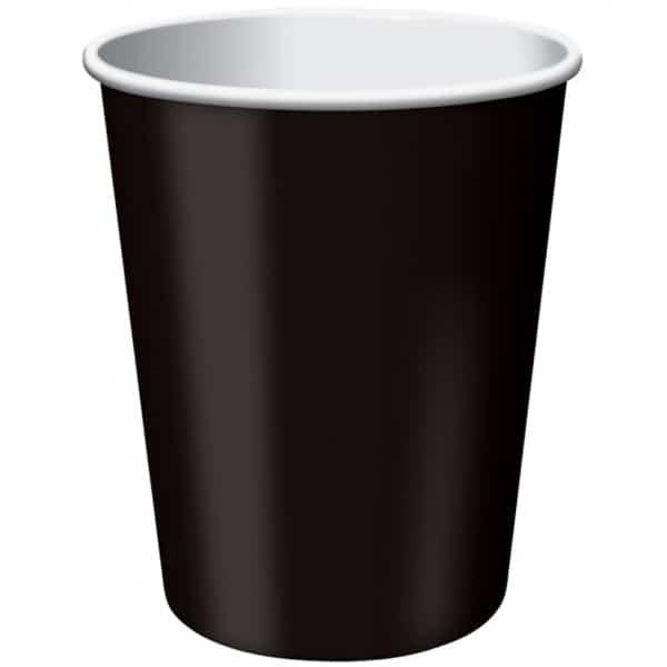 Vasos De Papel Negro 270Ml - Paquete De 14