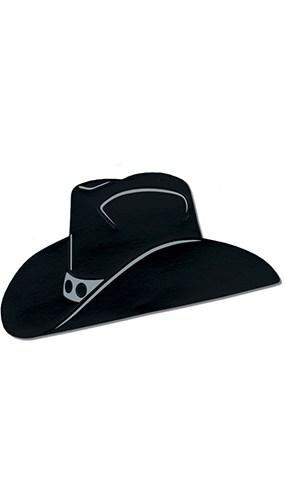 Figura de sombrero negro de vaquero - Paquete de 3