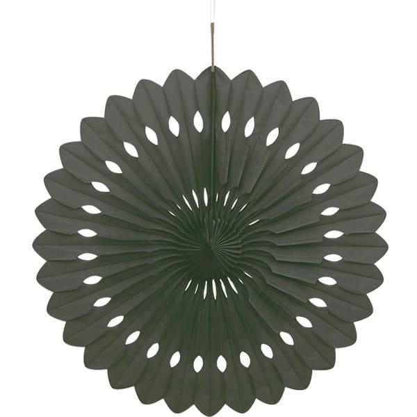 Abanico Negro Nido de Abeja Colgante Decorativo