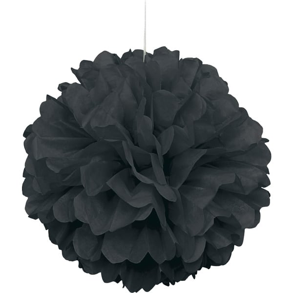 Negro Colgante Decorativo de Panal Bola de Puff
