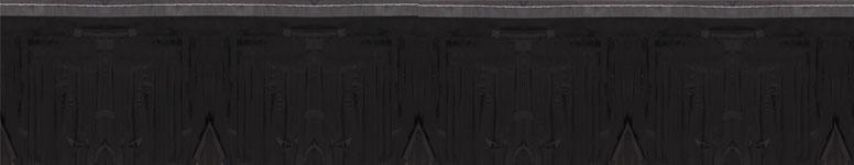 Guirnalda De Franja Negra 549 cm de Largo x 13 cm de Alto