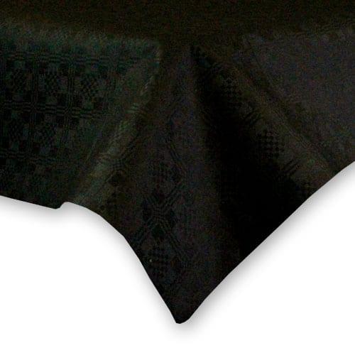 Mantel de Papel Negro (1 Unidad) 90 x 90 cm
